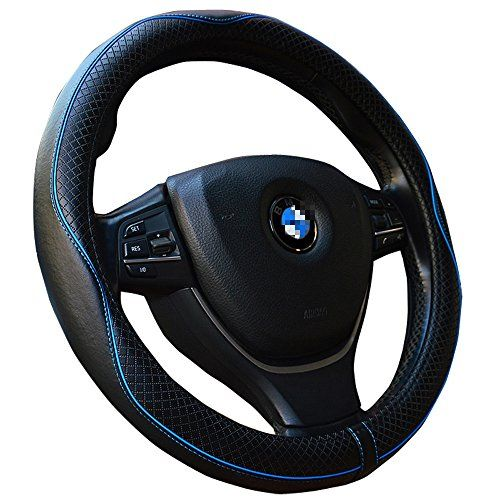 500x500 Genuine Leather Steering Wheel Cover 15inch Top Leather Steering