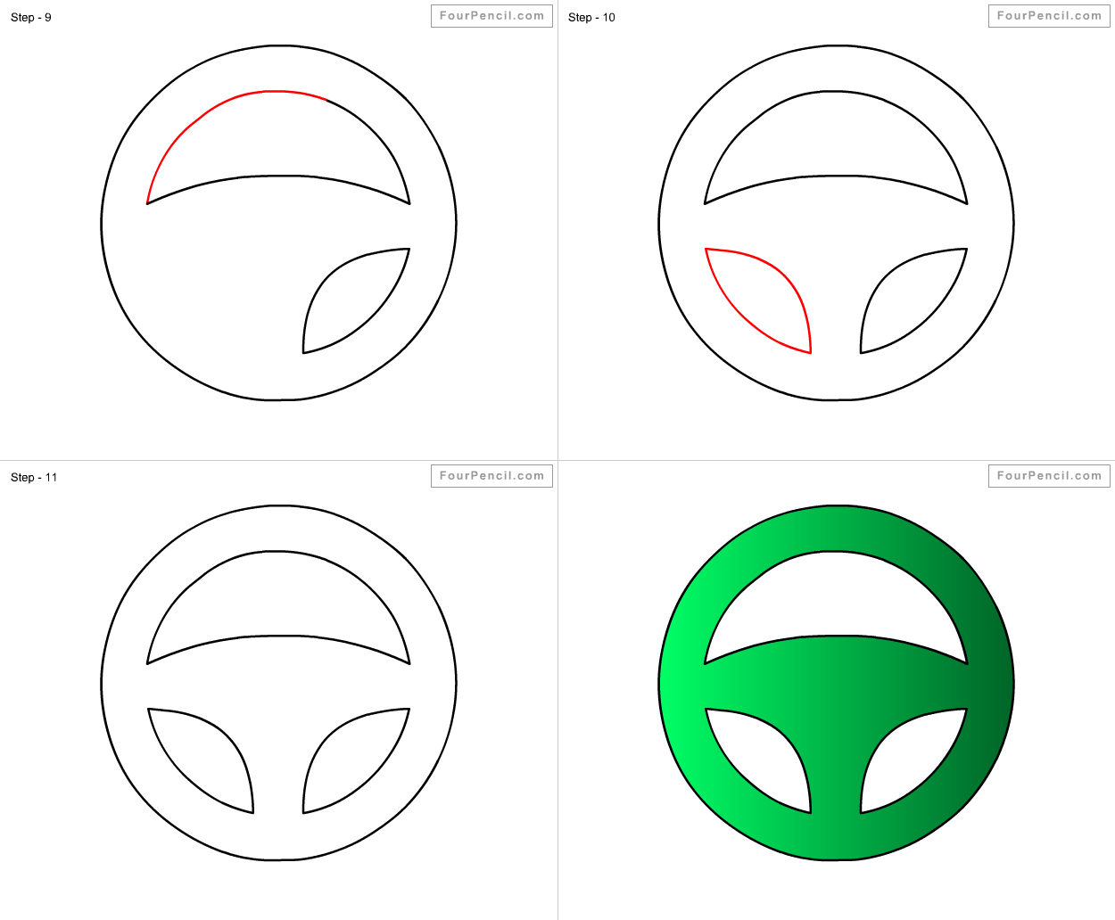 1250x1032 How To Draw Steering Wheel For Kids Step By Step Drawing Tutorial