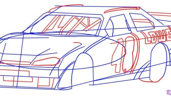 570x320 How To Draw A Race Car Draw A Race Car Step Step Drawing Sheets
