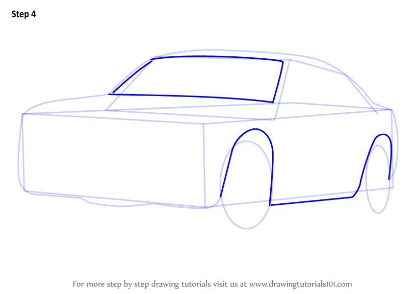 846x600 Step By Step How To Draw A Dodge Police Car