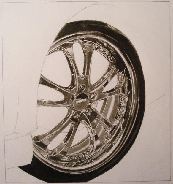 583x620 Chrome Rim Drawing Tutorial 13 Steps (With Pictures)