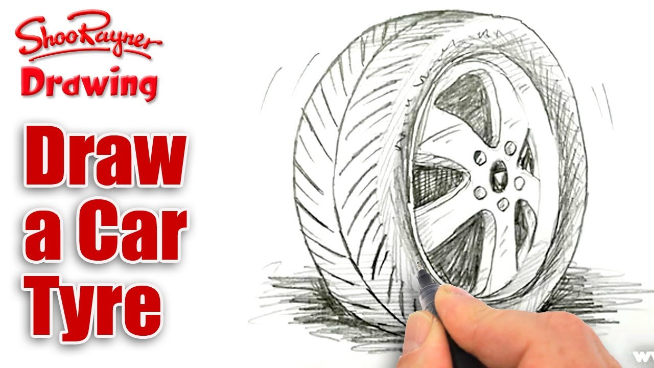 1280x720 How To Draw A Car Tiretyre