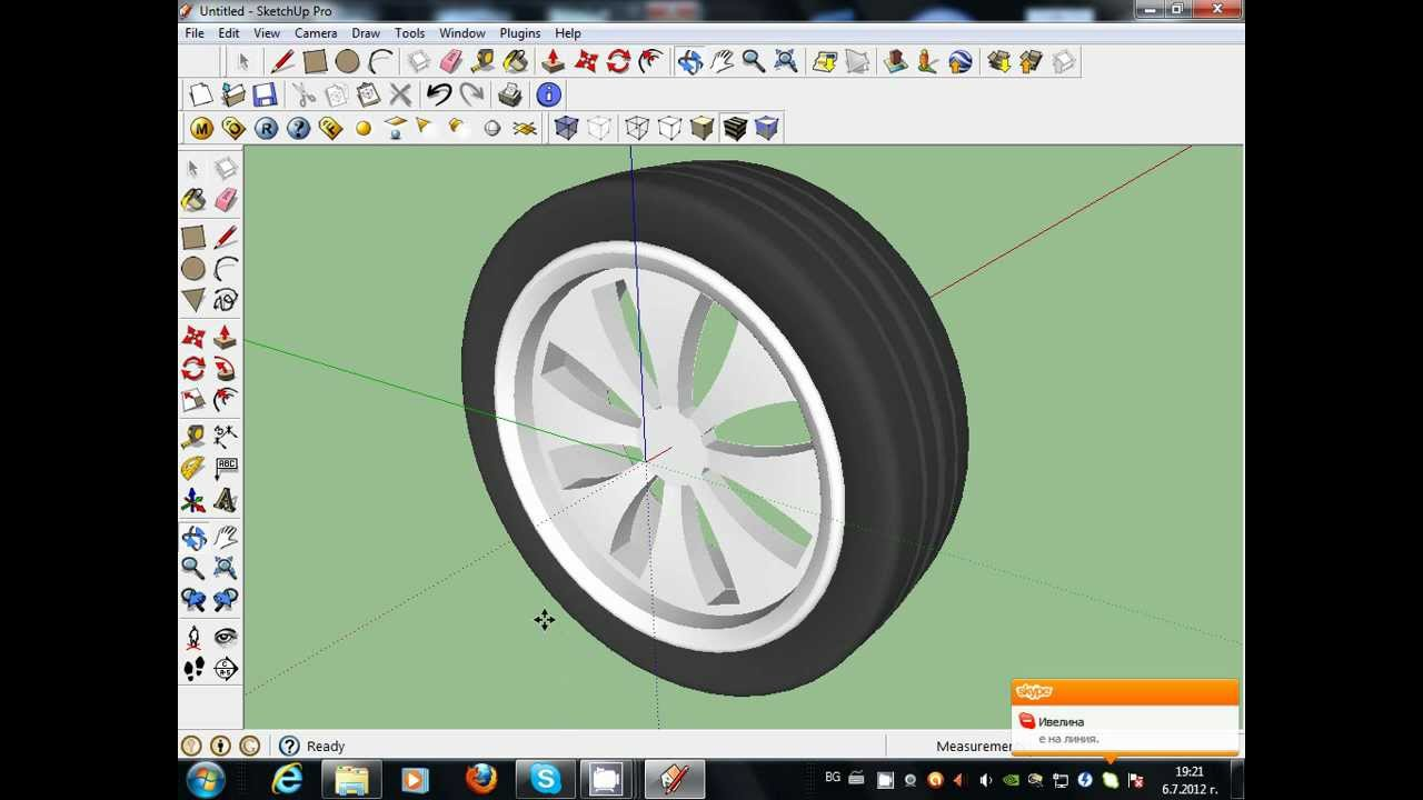 1280x720 How To Make Car Wheels Google Sketchup Toturial