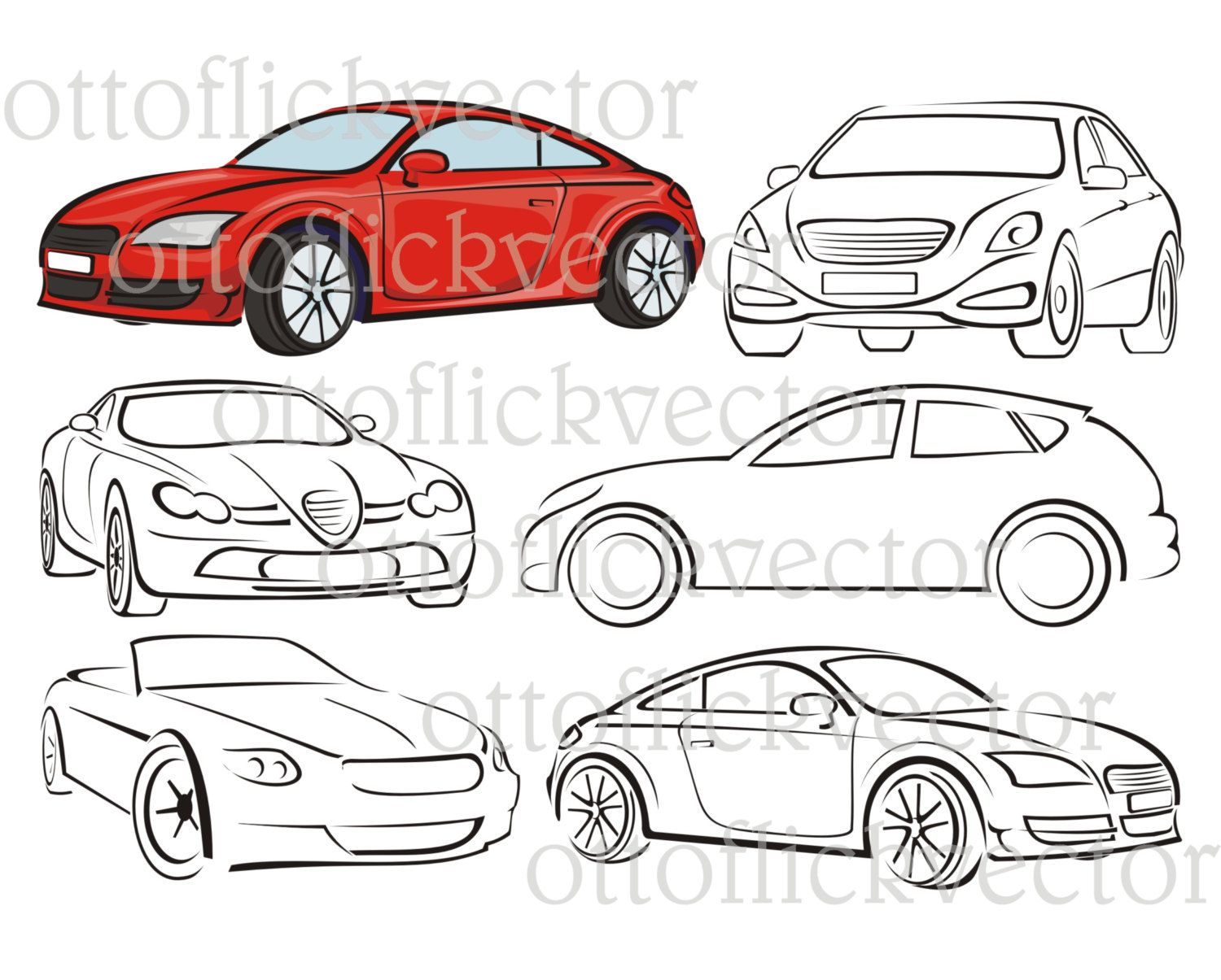 1500x1205 Car Vector Silhouettes, Clipart Cdr, Ai, Eps, Png, Jgp For Cut