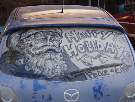 450x341 Drawings On Dirty Car Windows