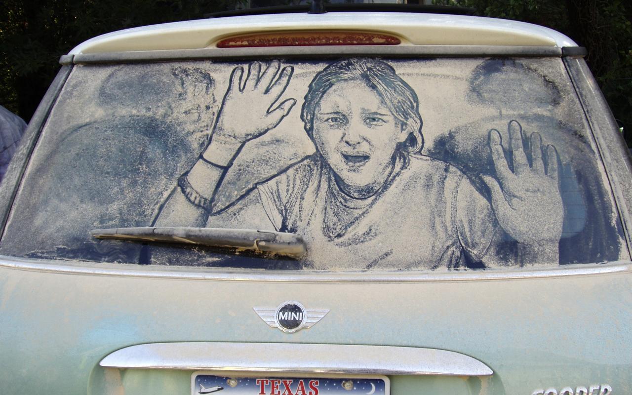 1280x800 Image Gallery Scott Wade's Dirty Car Art Trapped! Smart Art
