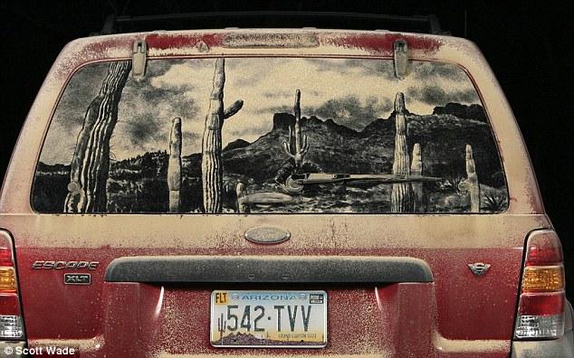 634x396 World's Leading Dirty Car Artist Turns Grubby Car Windows Into