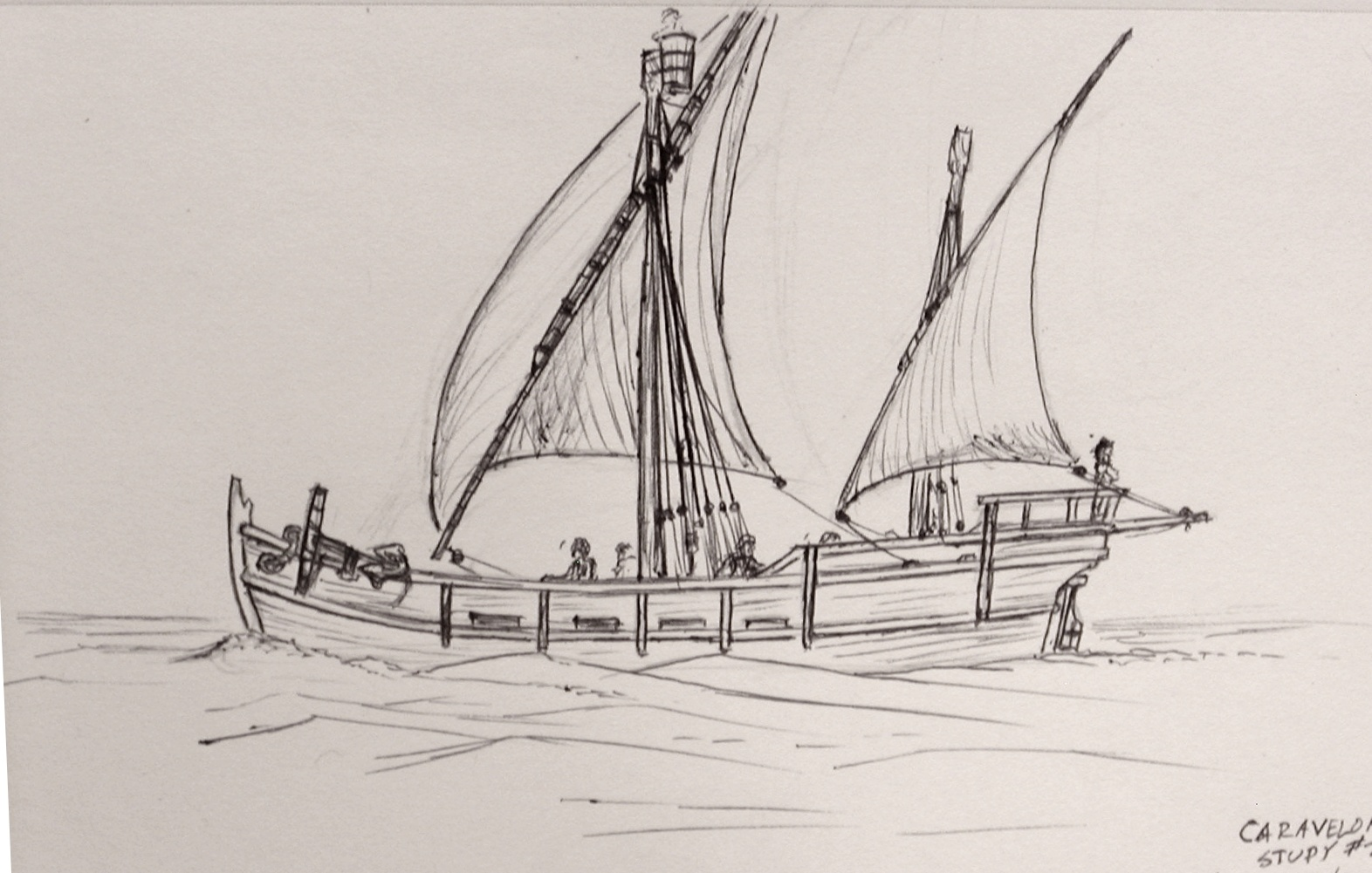 1572x1001 Robert's Old Ships The Caravelon