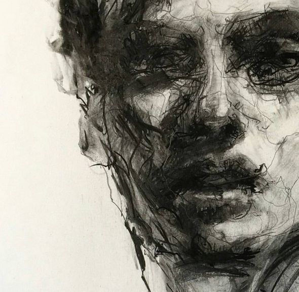 590x575 287 Best Impressive Charcoal Drawings Images