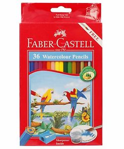 250x300 New Faber Castell 36 Watercolor Pencils In Cardboard Box Art