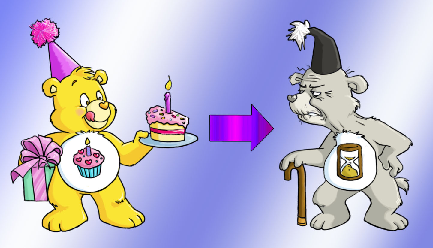 1443x826 Birthday Bear Amp Old Coot Bear (Drawing By Drchrissy @