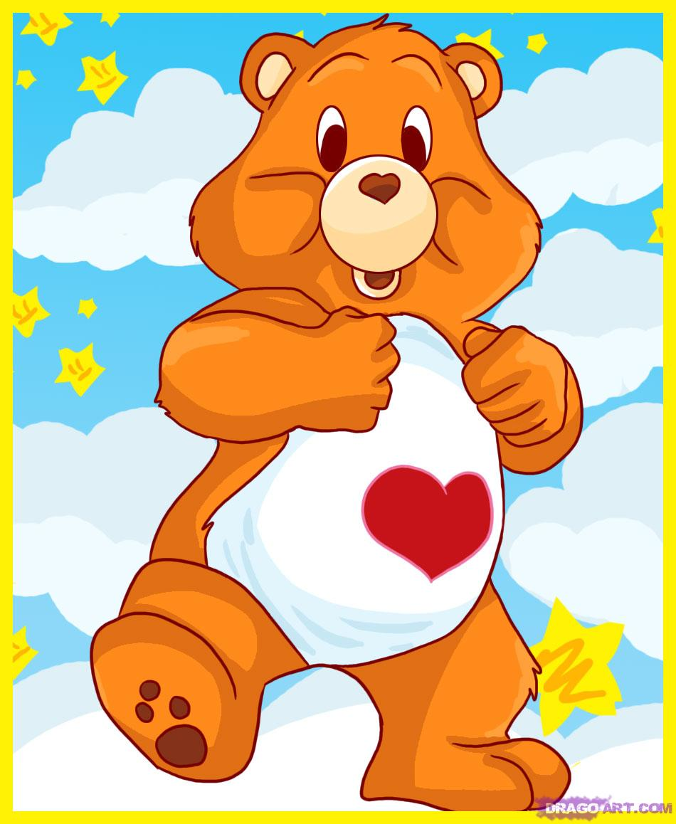 950x1158 How To Draw A Care Bear, Tenderheart Bear, Step By Step