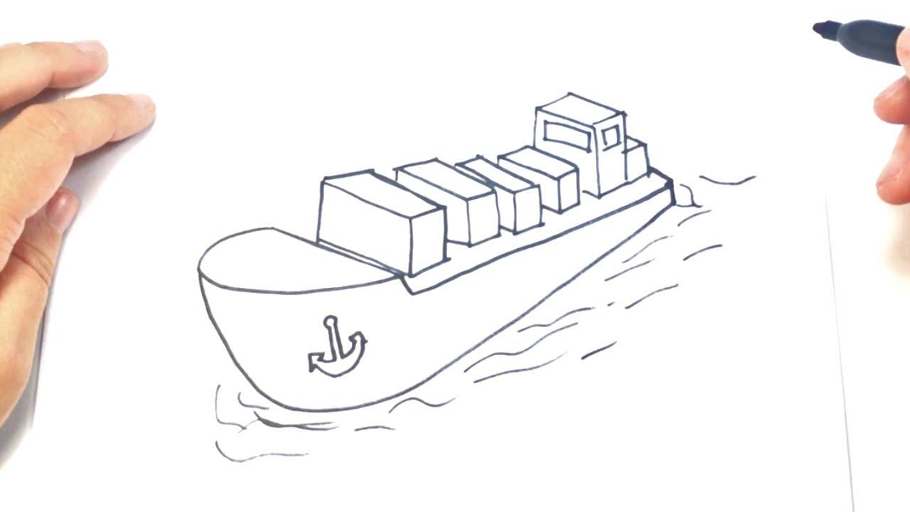 1280x720 How To Draw A Cargo Shipi Cargo Shipi Easy Draw Tutorial