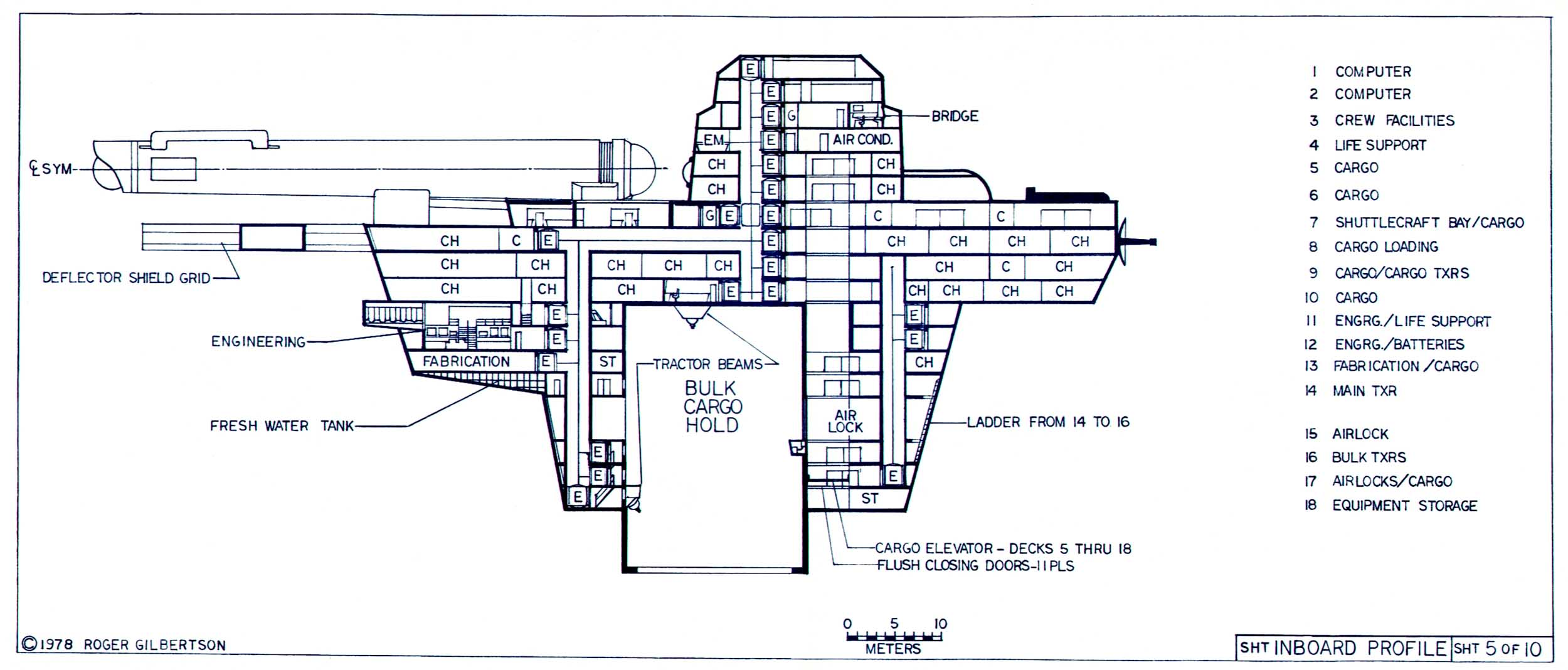 Cargo Drawing At Free For Personal Use Craft Wiring Diagram 2500x1068 Star Trek Blueprints General Plans Mk Xii Robot Ship