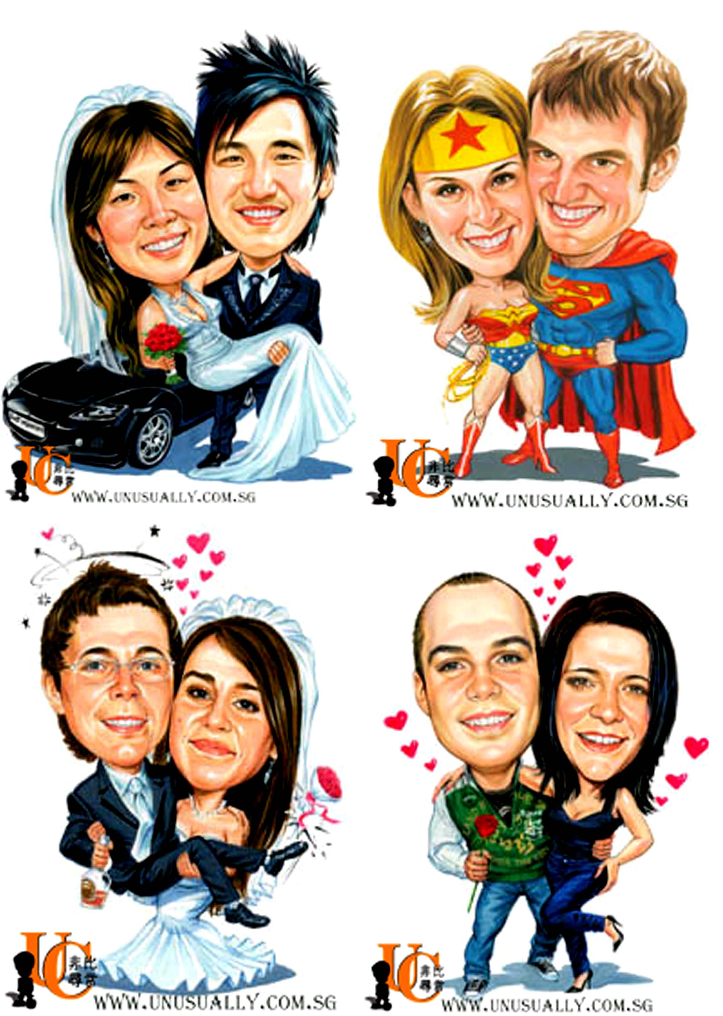 2307x3240 Caricature Drawing In Color Marker With Own Theme (Sample)