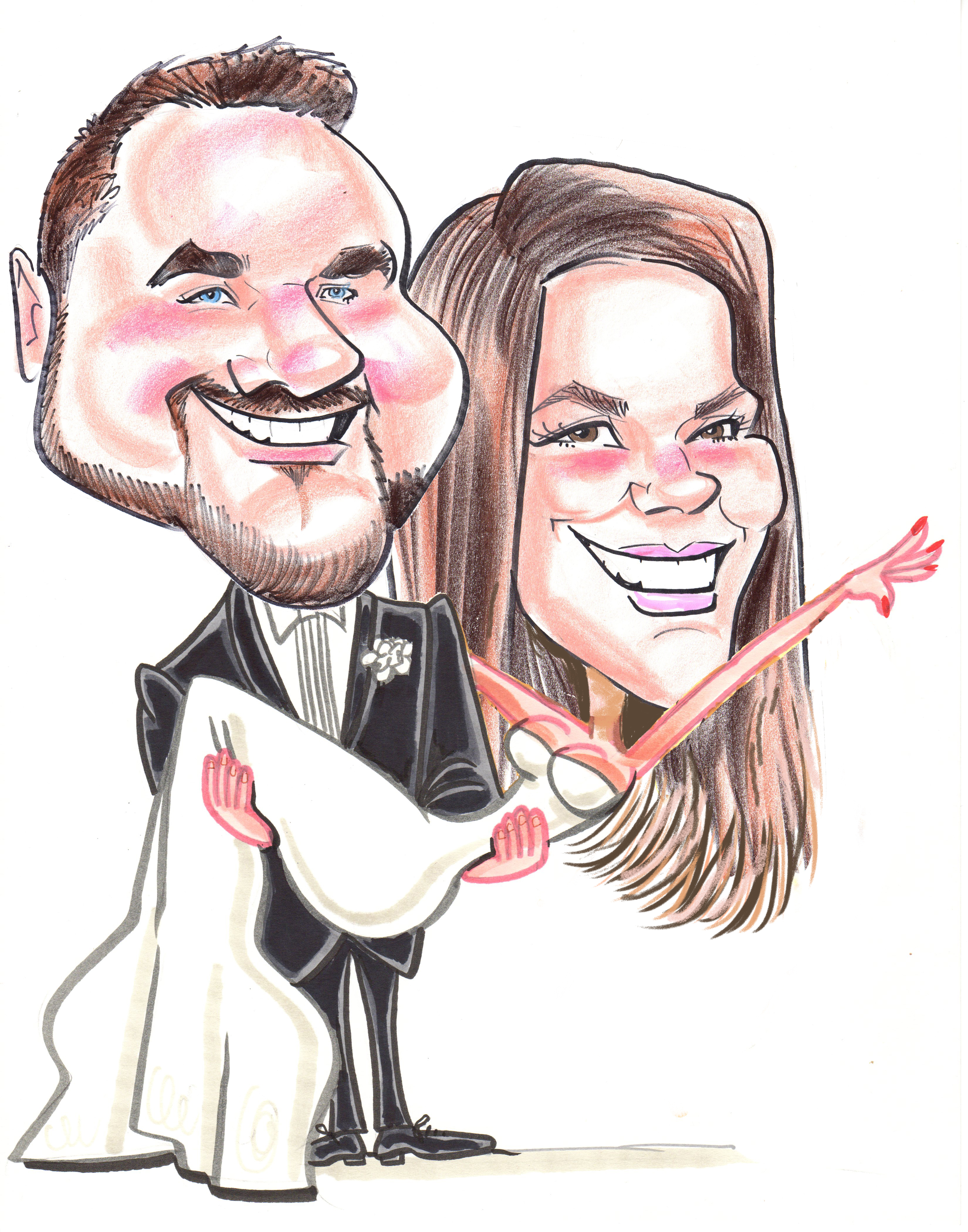 3300x4200 Wedding Proposal Caricaturist