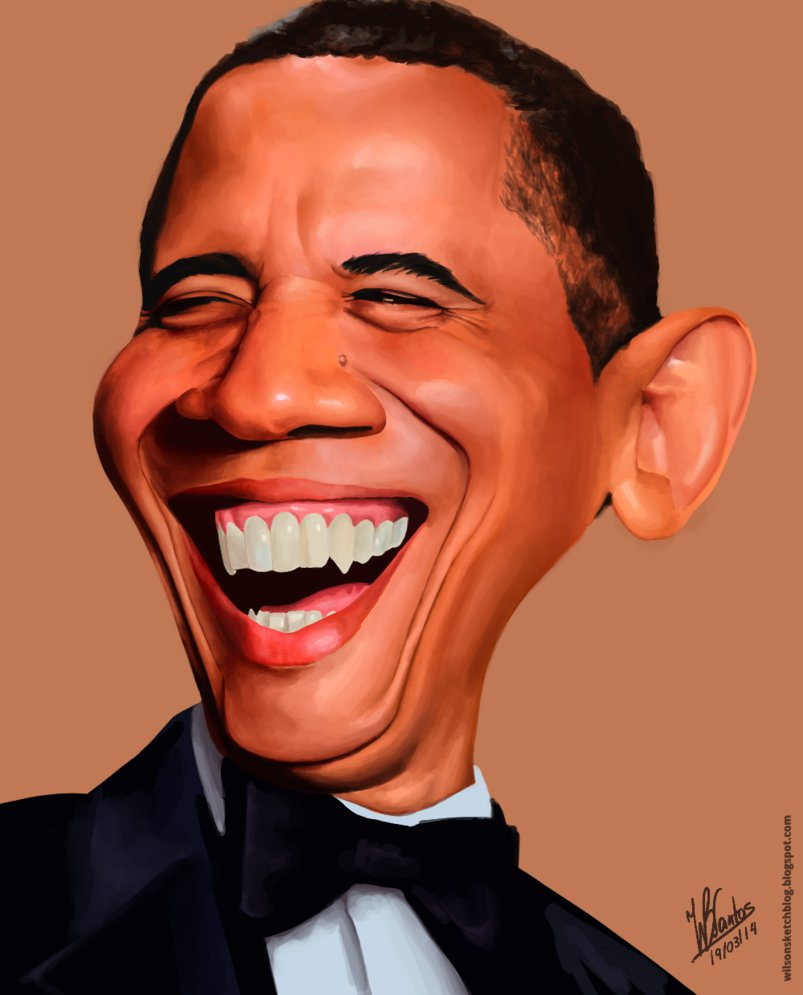 803x995 Barack Obama (Caricature) By Wilson Santos