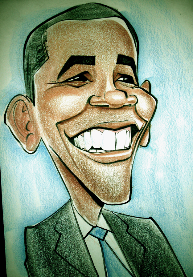 626x900 Barack Obama Caricature By Heckthor
