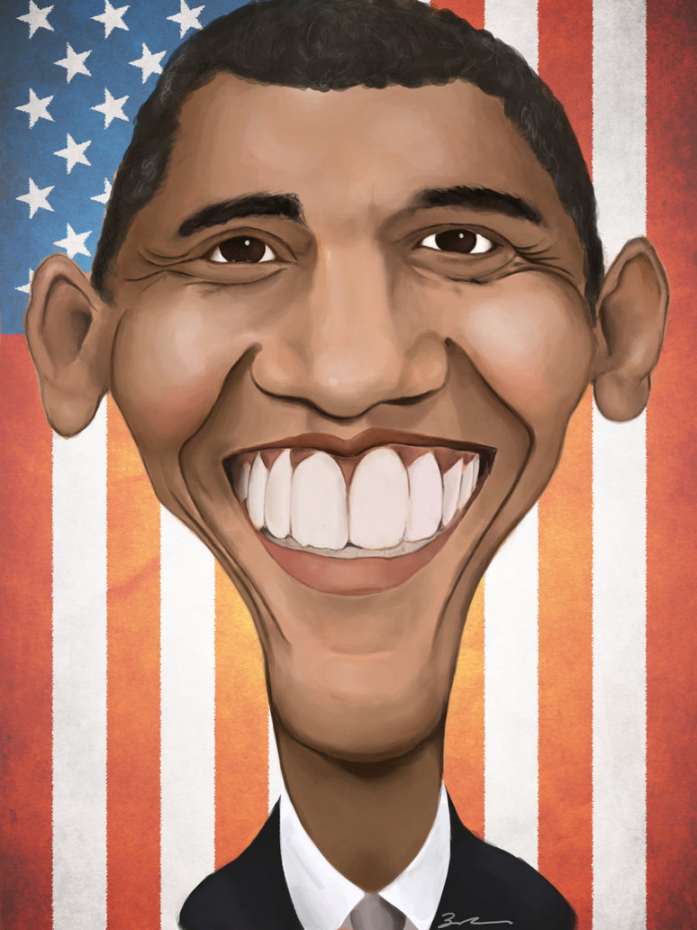 774x1032 Barack Obama Caricature By Zworks