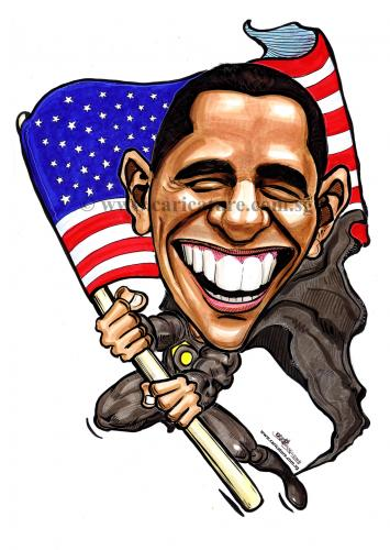 355x500 Cartoon Caricatures Cartoon Caricature Of Barack Obama (Medium