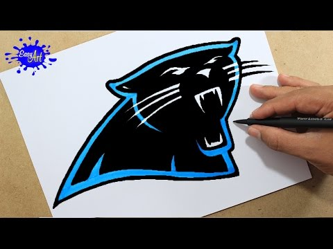 480x360 How To Draw Carolina Panthers Super Bowl 50