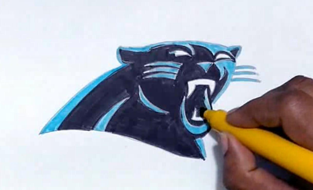 1218x740 How To Draw The Carolina Panthers Logo