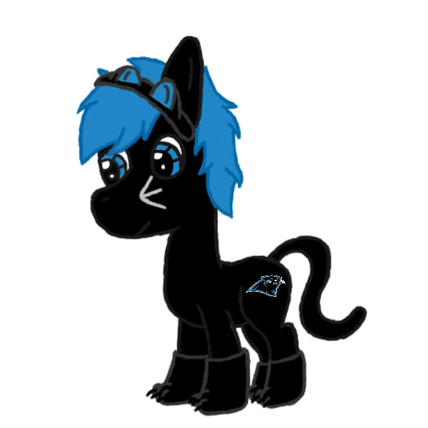 604x604 Carolina Panther's Mascot (Ponified) By Artisticpup