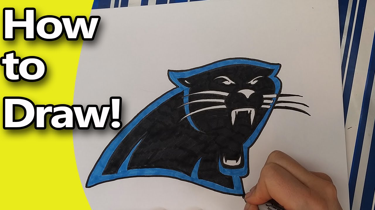 1280x720 How To Draw The Carolina Panthers Logo Step By Step By Hand