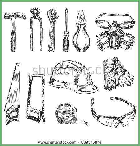 Carpentry tools drawing at free for for Draw tool free