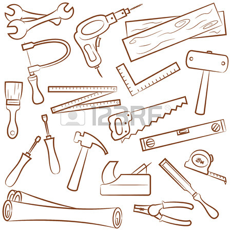 450x450 Collection Of Carpenter's Tools And Outfit Royalty Free Cliparts