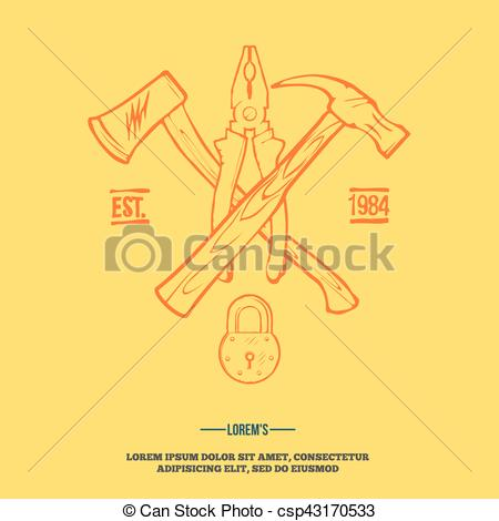 450x470 Vintage Carpentry Tools, Labels And Design Elements Vector