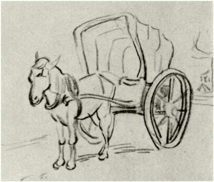 750x639 Carriage By Vincent Van Gogh