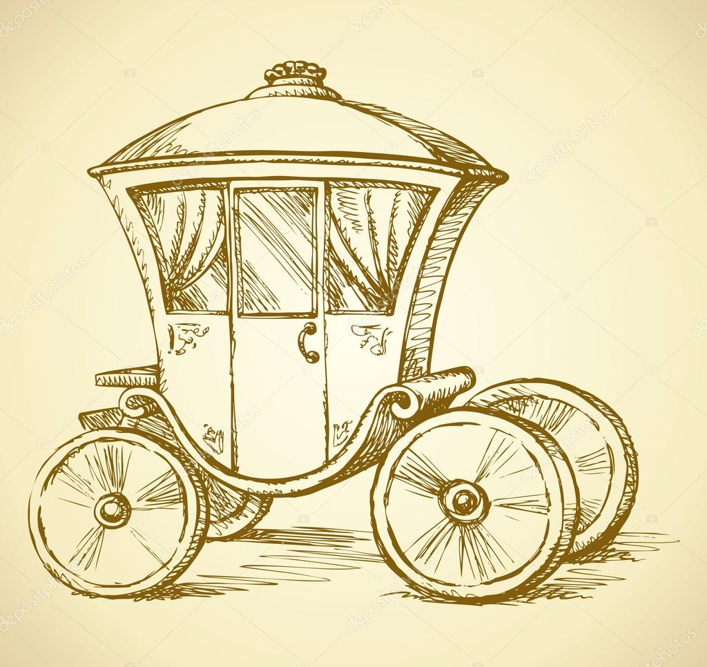 1024x966 Carriage. Vector Drawing Stock Vector Marinka