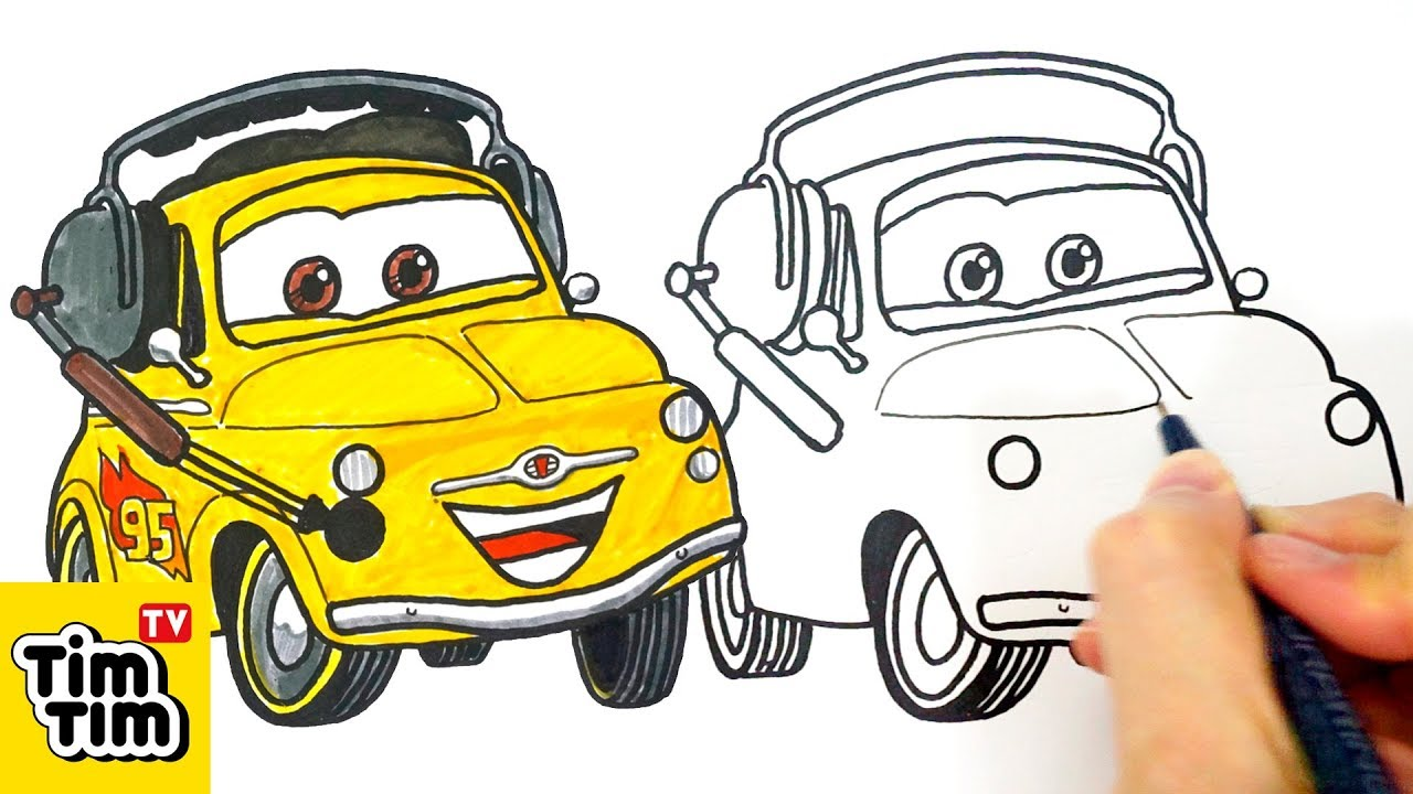 1280x720 How To Draw Cars 2 Luigi Easy Step By Step For Kids Art Colors