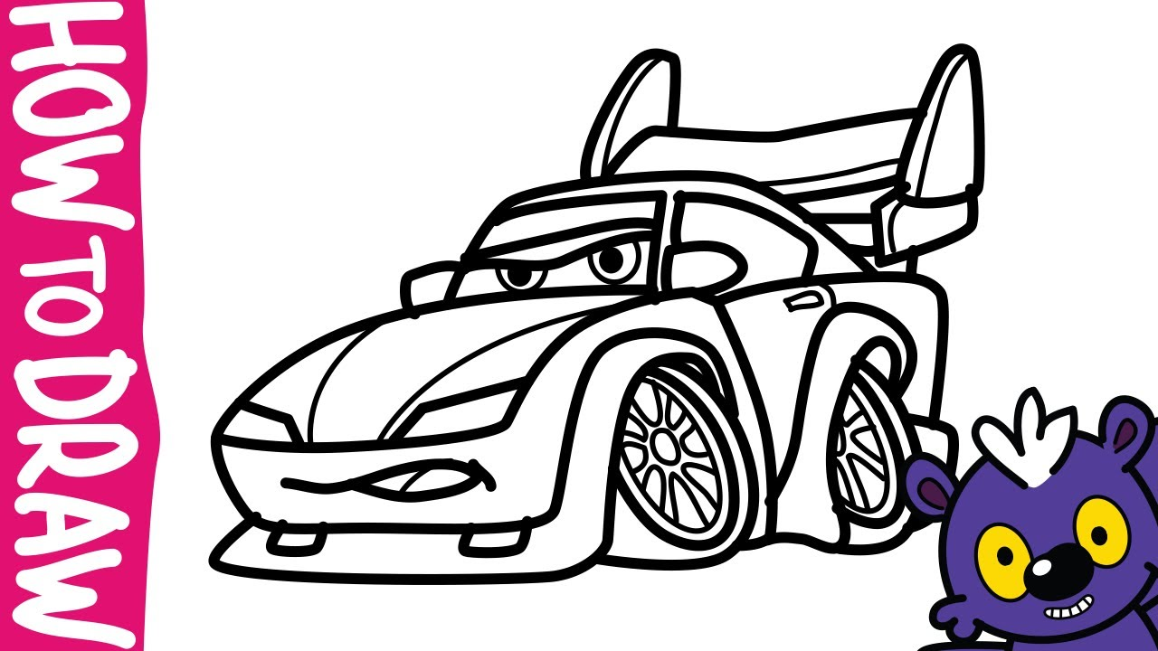 1280x720 Hurry Cars Wingo Coloring Pages Car 2