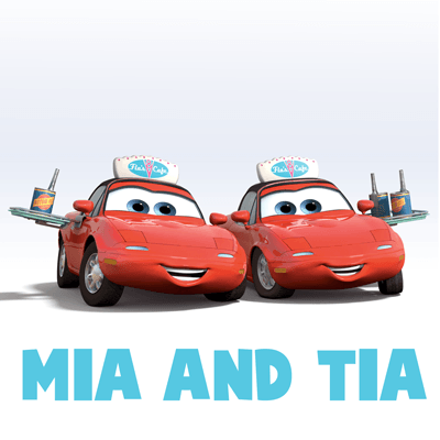 400x400 How To Draw Mia And Tia From Disney Pixar's Cars With Easy Step By