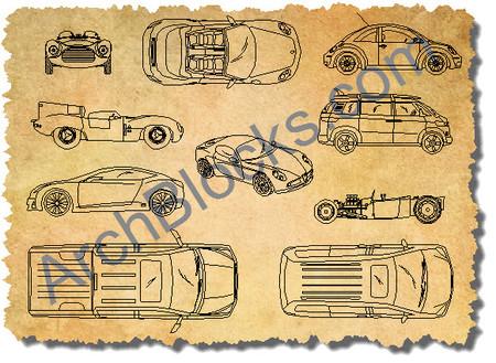 450x329 Autocad Car Symbols Cad Vehicle Blocks Cars Trucks Cad Drawings