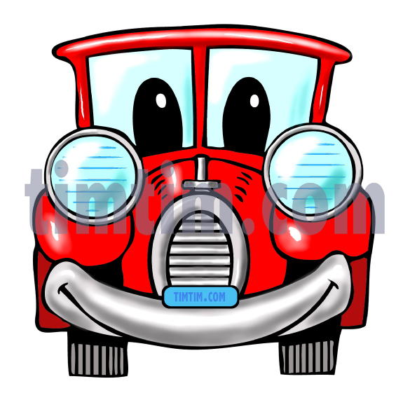 585x571 Free Drawing Of A Car Face From The Category Cars Trucks Buses