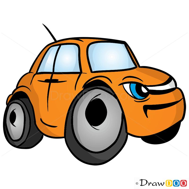 800x799 How To Draw Grumpy Car, Cartoon Cars