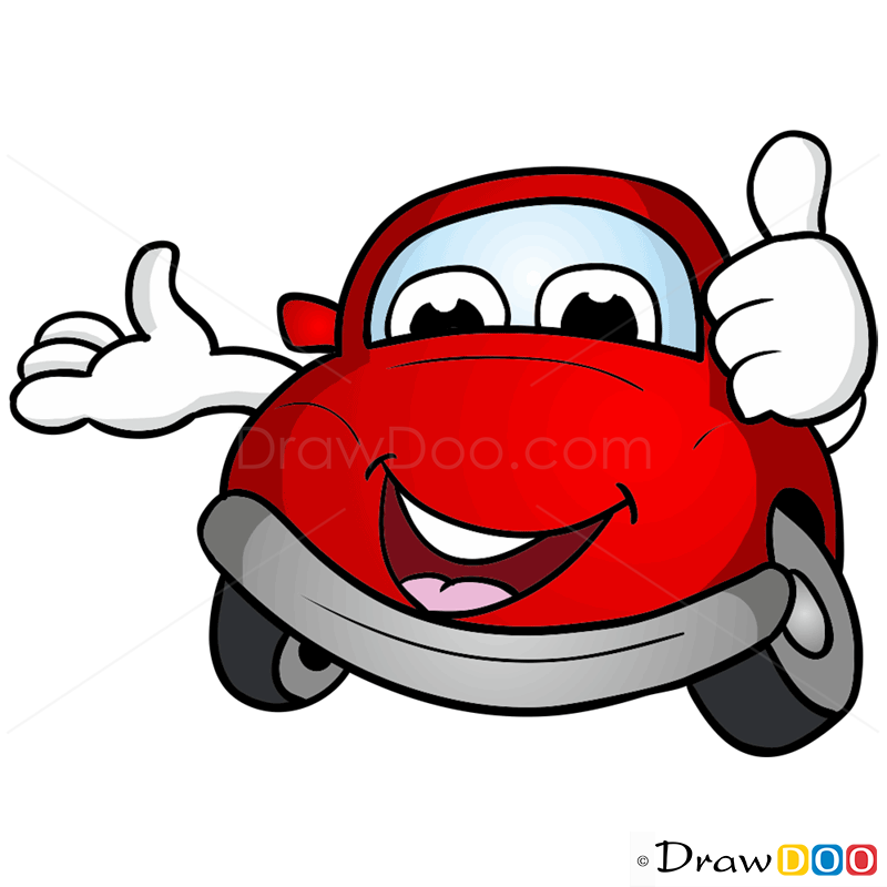 800x800 How To Draw Little Red Car, Cartoon Cars