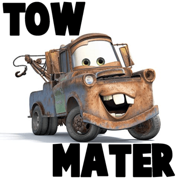 350x351 How To Draw Tow Mater From Disney Cars Movie