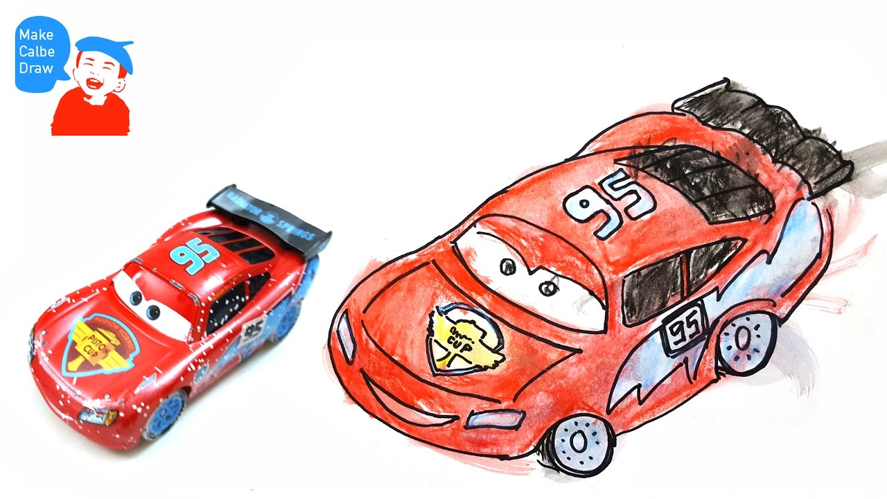 1280x720 Lightning Mcqueen Drawing For Kids With Cars Disney Lightning