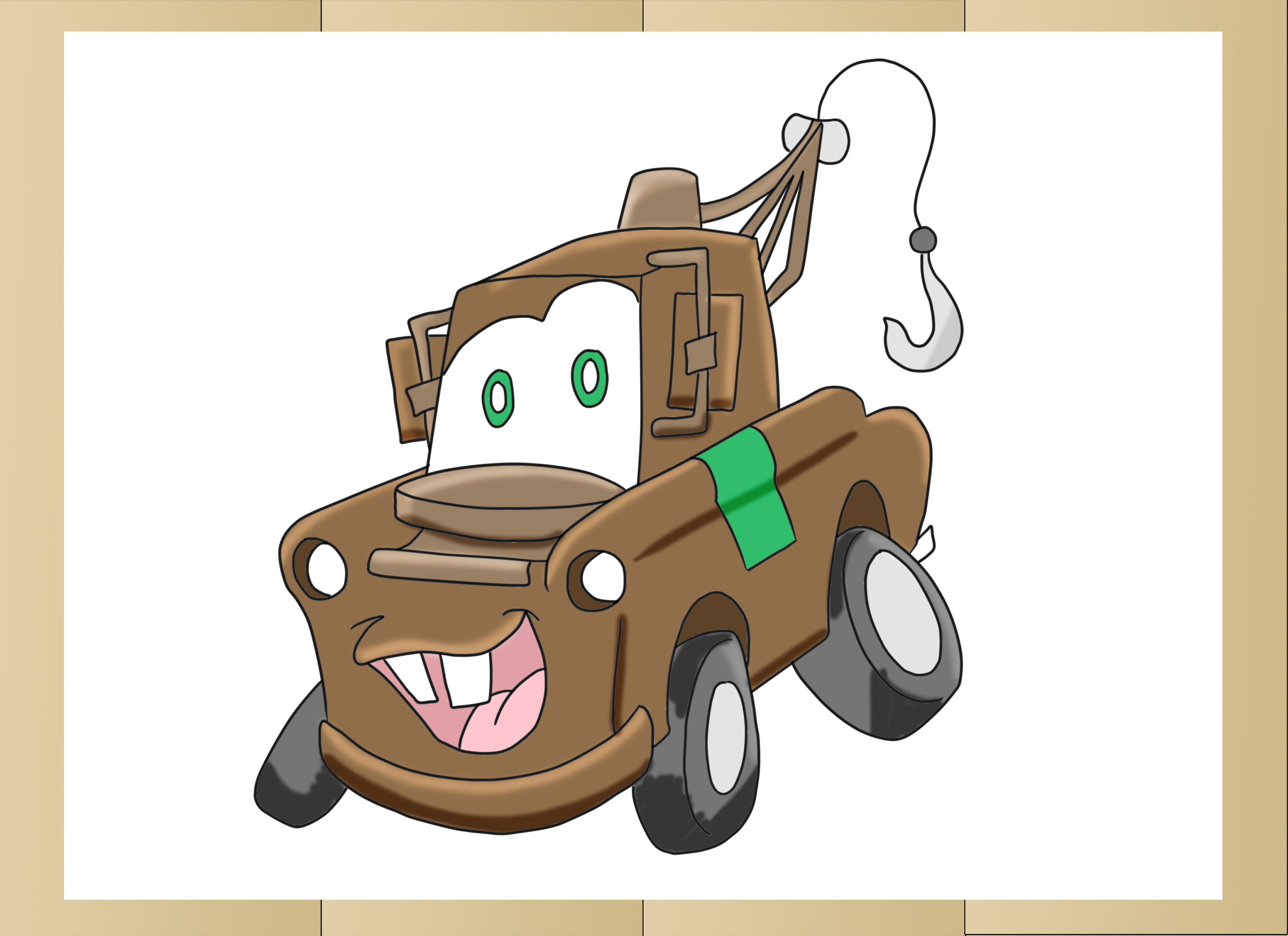 3300x2400 How To Draw Mater From Cars 6 Steps (With Pictures)