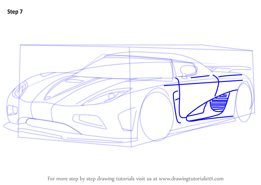 844x598 Learn How To Draw Koenigsegg Agera R (Sports Cars) Step By Step