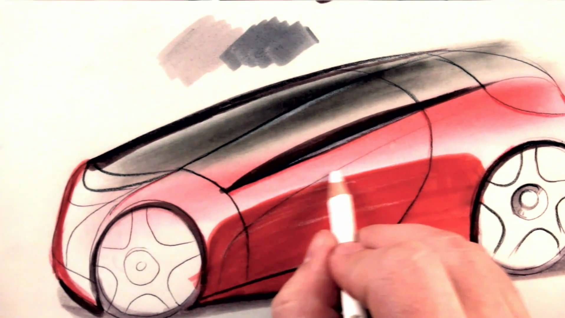 1916x1080 How To Draw Cars Colored Pencil Tutorial