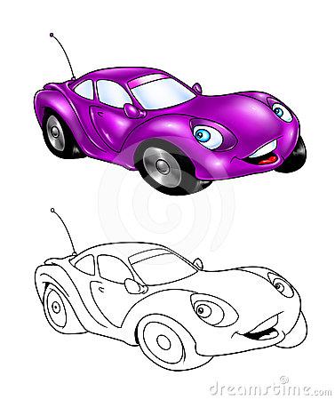 377x450 Car Cartoon Coloring Page 3 Transport