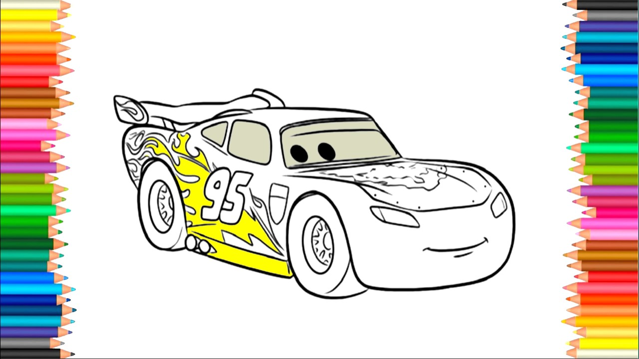 1280x720 Cars 3 Coloring Pages , Colors For Kids To Learn, Drawing