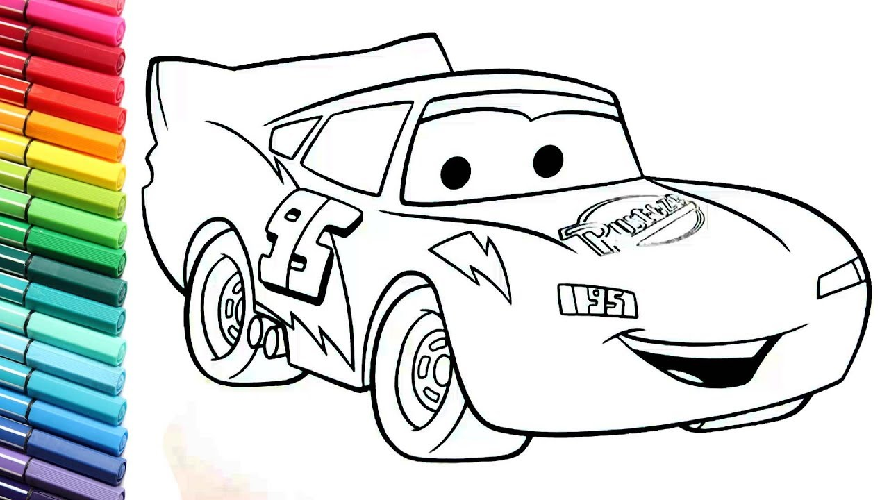 1280x720 Cars Lightning Mcqueen Color Pages Collection