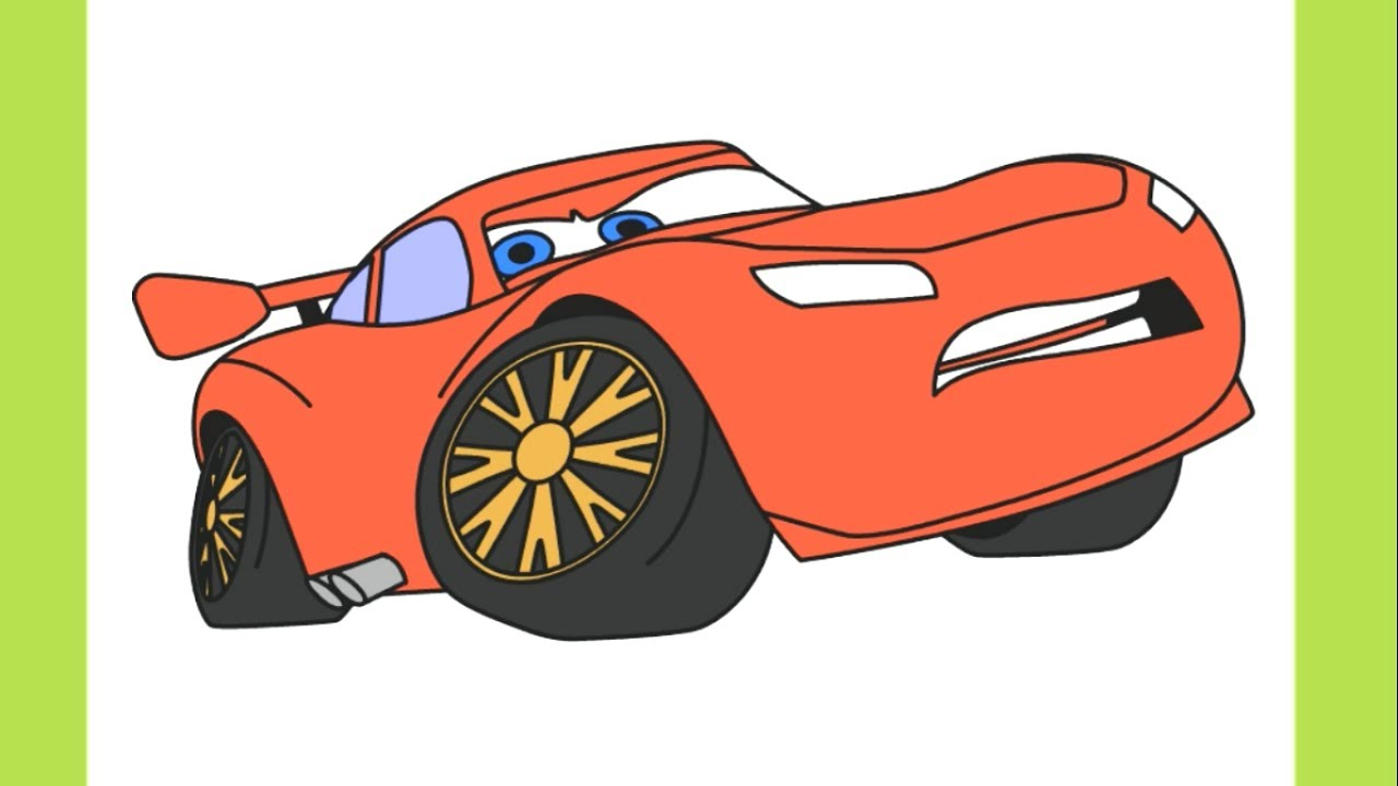 1280x720 Drawing Lightning Mcqueen From Cars 3 Coloring Pages For Kids