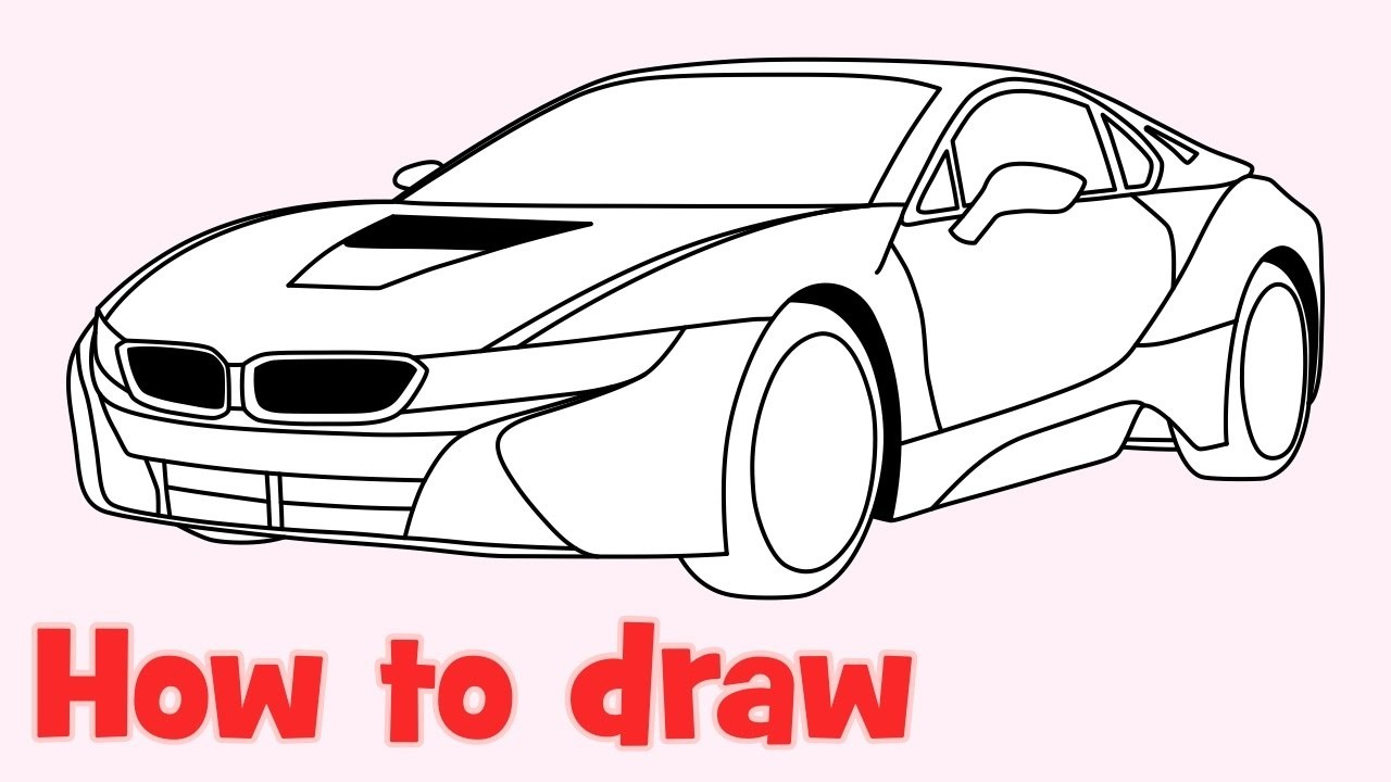 1280x720 Bmw I8 Drawing New Cars Gallery
